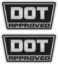 (2) Silver DOT Approved Motorcycle Helmet Stickers  Decals  Labels D.O.T. Pair