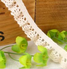 5 yards Cotton Lace Trim Wedding Bridal Ribbon Sewing sock decoration14mm