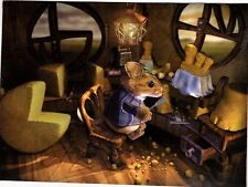 Unframed Art Poster fantasy art whimsical mouse with cheese (k63)