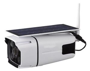 Watchmen Solar Powered Wifi Security Camera No Electricity Required  New