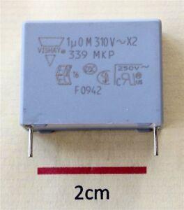 Vishay MKP339 1.0UF 310Vac X2 Polypropylene Film Suppression Capacitor (Pk of 2)