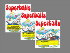 12 Vinyl Peel and Stick 2.5 x 2.5 Bulk Vending Labels Superballs Warning
