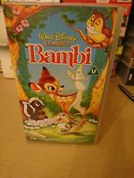 Bambi Disney Vhs Video Tape