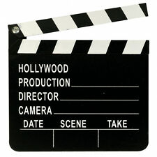 1 X Hollywood Party Movie Night Director's Wooden Clapperboard Prop Decoration