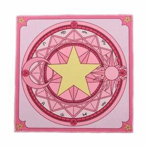 1pc Pink Sakura Square Carpet Card Pattern Rug Anime Cardcaptor Sakura Home Deco