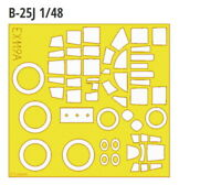 Eduard EX119 1/48 B-25J Mitchell Paint Mask for Revell/Monogram kit