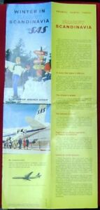 Brochure SAS Airlines w Map Of Route