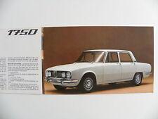 Catalogue / brochure  ALFA ROMEO 1750 berline