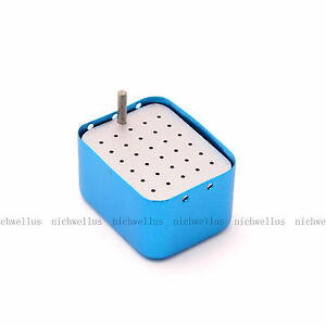 Aluminum 30Holes Dental Burs Autoclave Holder Disinfection Endo Block Box
