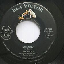 50'S & 60'S 45 Sam Cooke - Sad Mood / Love Me On Rca Victor