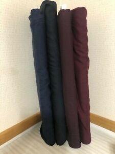 Landau 100% Wool Gabardine Suiting Fabric–Black/Navy/Plum/Aubergine -by the yard