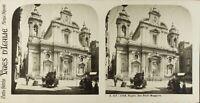 Italia Napoli San Paolo Maggiore, Foto Stereo Vintage Analogica 61n75