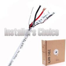 Security Cable Burglar Alarm 18/2 Shielded 500FT Stranded White Speaker Wire