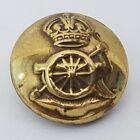 Kings crown Royal Artillery 16mm brass Gilt button WW1  Stamp J R Gaunt