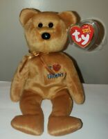 Ty Beanie Baby - I LOVE ILLINOIS the Bear (State Exclusive) MINT with MINT TAGS