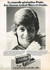 PUBLICITE ADVERTISING 055 1976  PENTO  brillantine  creme capillaire