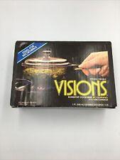 Vintage Vision V-81 Corning Pot Cookware Amber Covered Saucepan Nib!