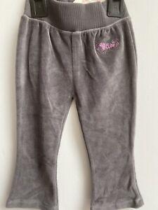 Marks&Spencer Mini Limited Baby Girl Toddler Trousers Pants in Grey Velvety Feel
