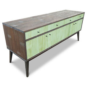 Wooden Lowline TV Stand Entertainment Cabinet Storage Unit Rustic Sideboard Mint