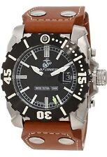 NEW Wrist Armor WA122 C2 Mens US MARINES Semper Fi Leather Military Diver Watch