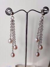 925 sterling silver drop /dangle Freshwater pearl earrings