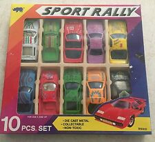 VINTAGE 10 SPORT RALLY DIE CAST 1:64 SCALE CAR SET R8910 COLLECTABLE