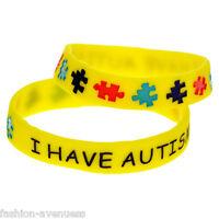 1X Silicone BRACELET Emergency Jewellery I Have AUTISM Wristbands Alert Medical
