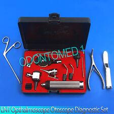 ENT Opthalmoscope Ophthalmoscopic Otoscope Nasal Larynxx Diagnostic Set