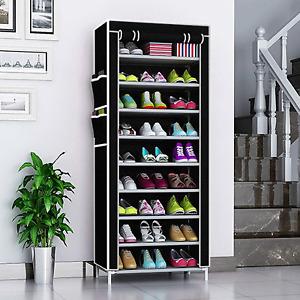10 Schicht Schuhschrank Schuhablage 4 farben Schuhständer Vliesstoff Schuhregal