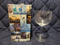Hadeland Norway Vintage handblown glass Goblet Wine challis Song of Norway 1978