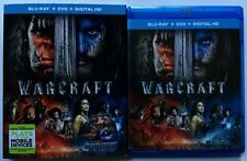 WARCRAFT BLU RAY DVD 2 DISC SET + SLIPCOVER SLEEVE FREE WORLD WIDE SHIPPING