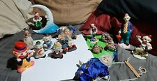 Lot of clowns, 14 total from banks to puppets and figurines and a clown bell