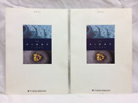 2 Vintage United Airlines Menus First Class Tcby Starbucks Mrs Fields