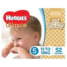 Huggies Ultimate Nappies, Boys, Size 5 Walker (13-18kg),52 Count Baby Disposable