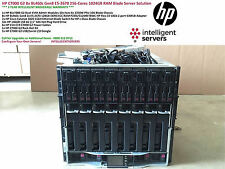 HP C7000 G2 8x HP BL460c Gen8 128-Cores 1024GB (1TB) RAM Blade Server Solution