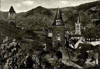 Bacharach Oberes Mittelrheintal AK ~1950/60 Schöning Steeger Tor Turm Stadtmauer