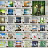 Waterproof Shower Curtains Fabric Bathroom Sheer Polyester Panel Decor 12 Hooks