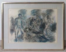 """Manfred Henninger, """"Akt-Studie"""", 1971, Pastell-Zeichnung"""