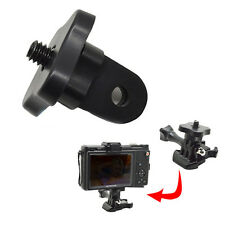Black Monopod Tripod Mount Adapter 1/4'' Screw Thread For GoPro HD Hero4 3+ 3 2