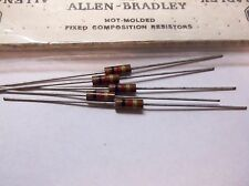 5 Allen Bradley Carbon Comp Resistors 1k 1/2 watt 5%