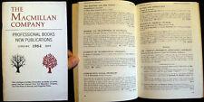1964 MACMILLAN PROFESSIONAL BOOKS CATALOG NEW PUBLICATIONS FREE PRESS + GLENCOE+