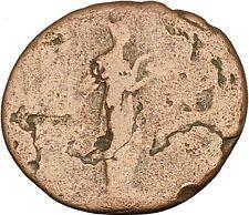 HADRIAN Bisexual Emperor BIG Rare Ancient Roman Coin Salus Health  Cult i40211
