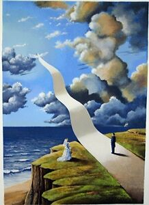 """""""The Shape of Intimate Illusion"""" Serigraph Hand Signed by Rafal Olbinski Limited"""
