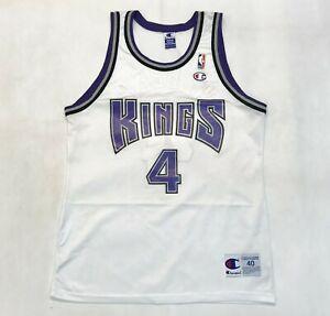 Vintage Champion NBA Sacramento Kings CHRIS WEBBER #4 Jersey White Sz 40