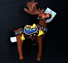 Applause Reindeer wDecorative Layered Saddle Bells Harness wTag Christmas New