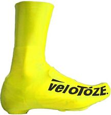 VeloToze Road Racing Bike Bicycle Tall Overshoes Yellow UK 4.5-6.5 EU 37-40