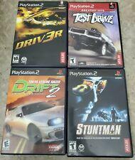 Lot of 4 PS2 Games: Driv3r, test drive,  stuntman,  Tokyo extreme racer drift 2