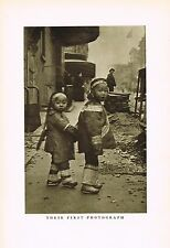 1910s Antique Asian Chinese Children Arnold Genthe Photo Gravure Print