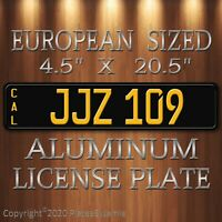 JJZ 109 Steve McQueen's 1968 Mustang EUROPEAN SIZED  Aluminum License Plate New