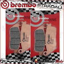 4 PLAQUETTES FREIN AVANT BREMBO FRITTE 07074XS PEUGEOT SATELIS 500 2011